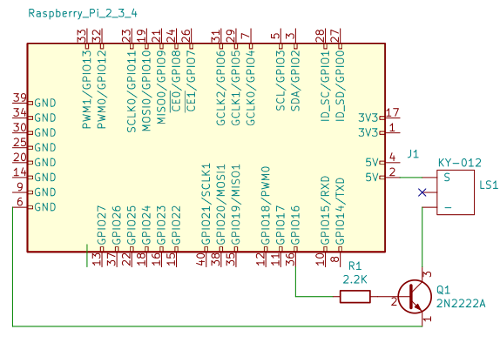 Schematic KY-012 with transistor